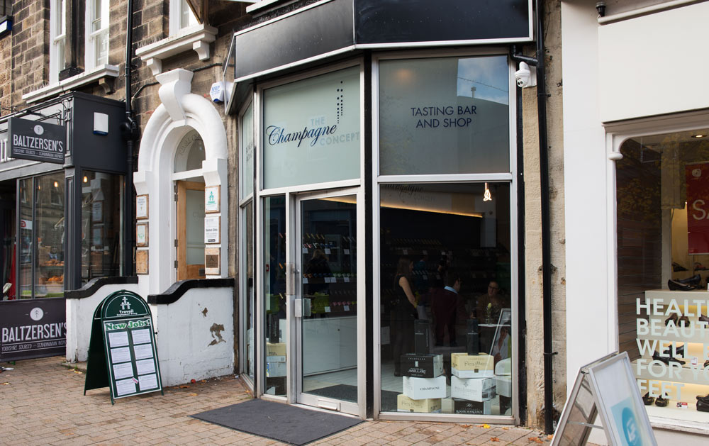The Champagne Concept is situated at 22a Oxford Street, Harrogate