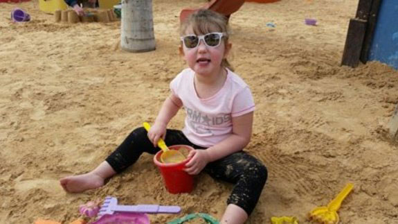 Grace was born with a congenital heart defect