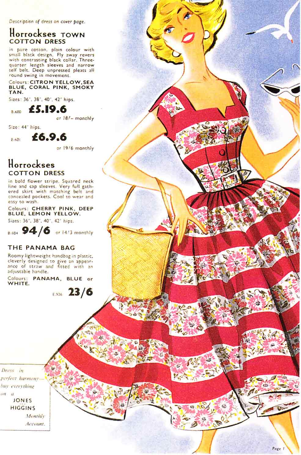 An advert for a 1950s frock