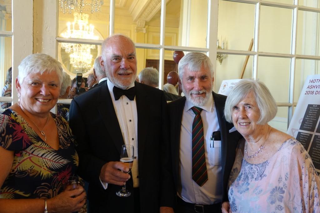 Ashvillian Society President Simon Donkin, Peter Forster, Kym Marshall and Ashville College Headmaster Richard Marshall