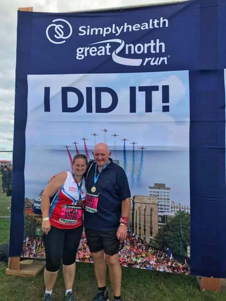 Stuart and Gemma at the finish