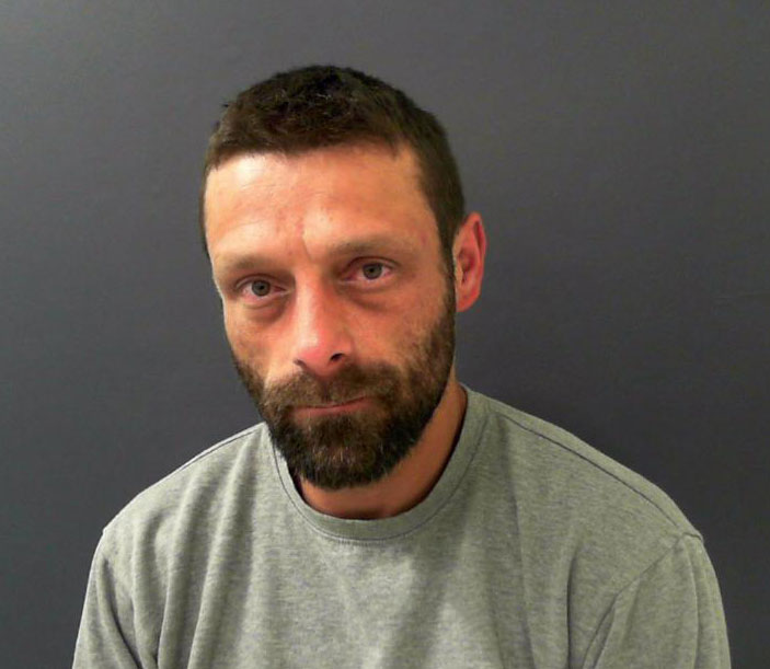 Shane Hughes, 41, from Halifax, led officers on a chase for 37 miles before abandoning the decommissioned ambulance