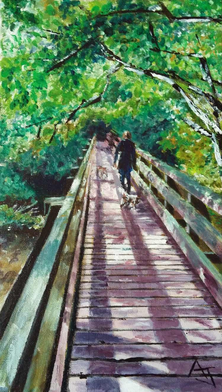 Andrew Johnson will exhibit at Knaresborough Art Society's Summer Exhibition, 17 August