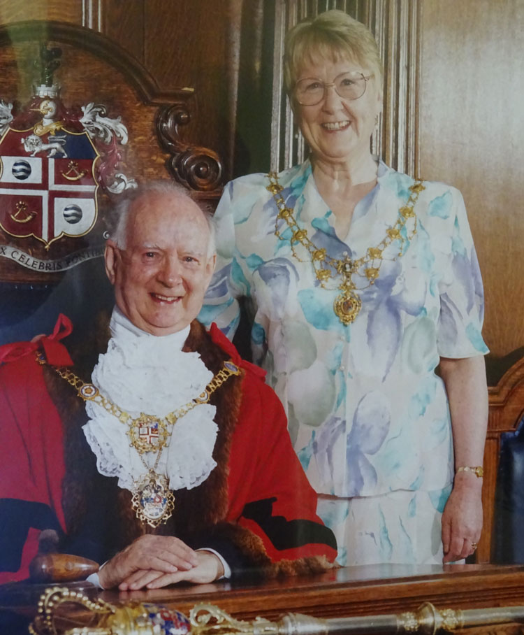George Crowther OBE and Joan Crowther
