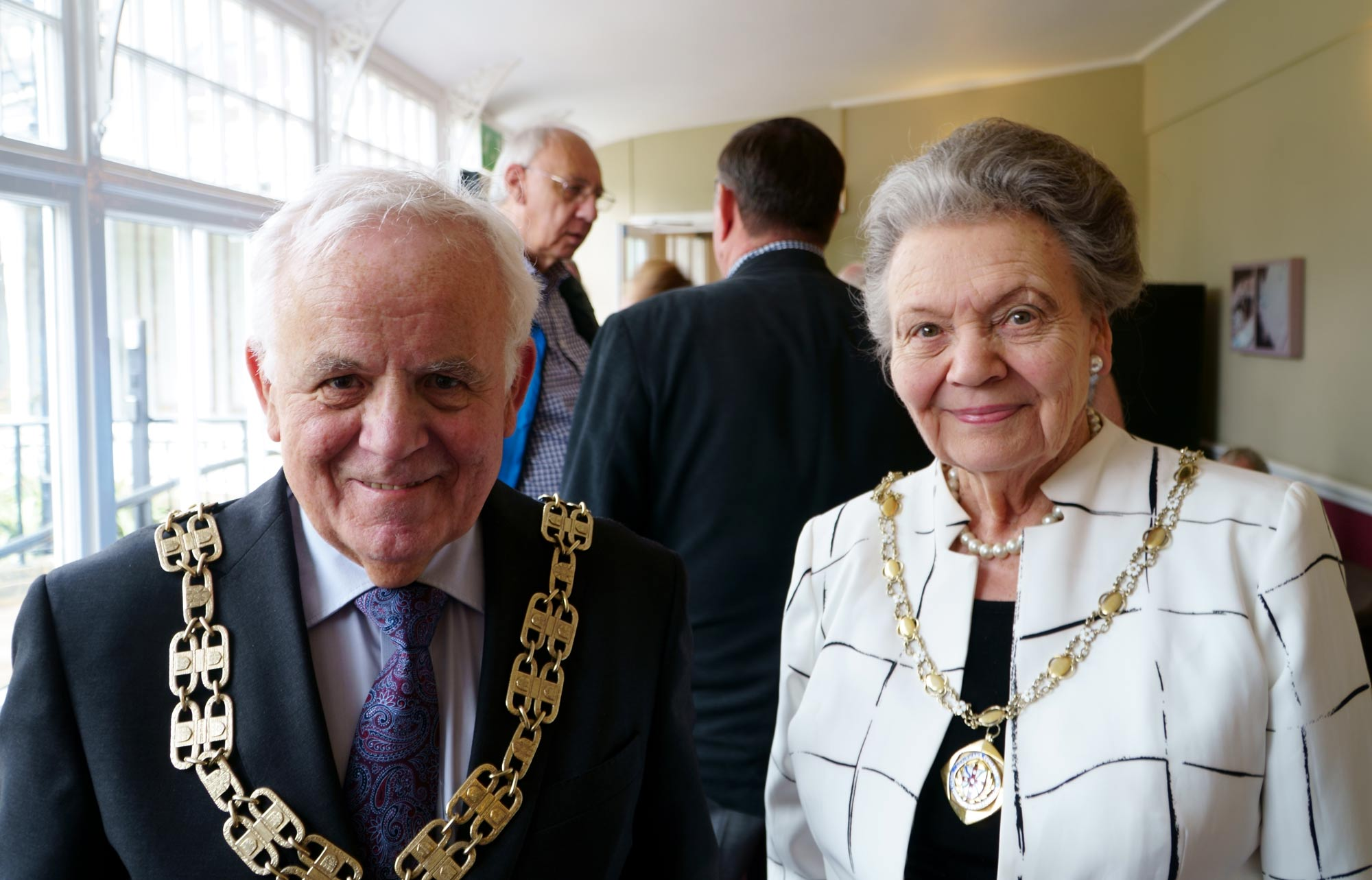 Chairman of the North Yorkshire County Council, Jim Clark with consort Mrs Shirley Fawcett