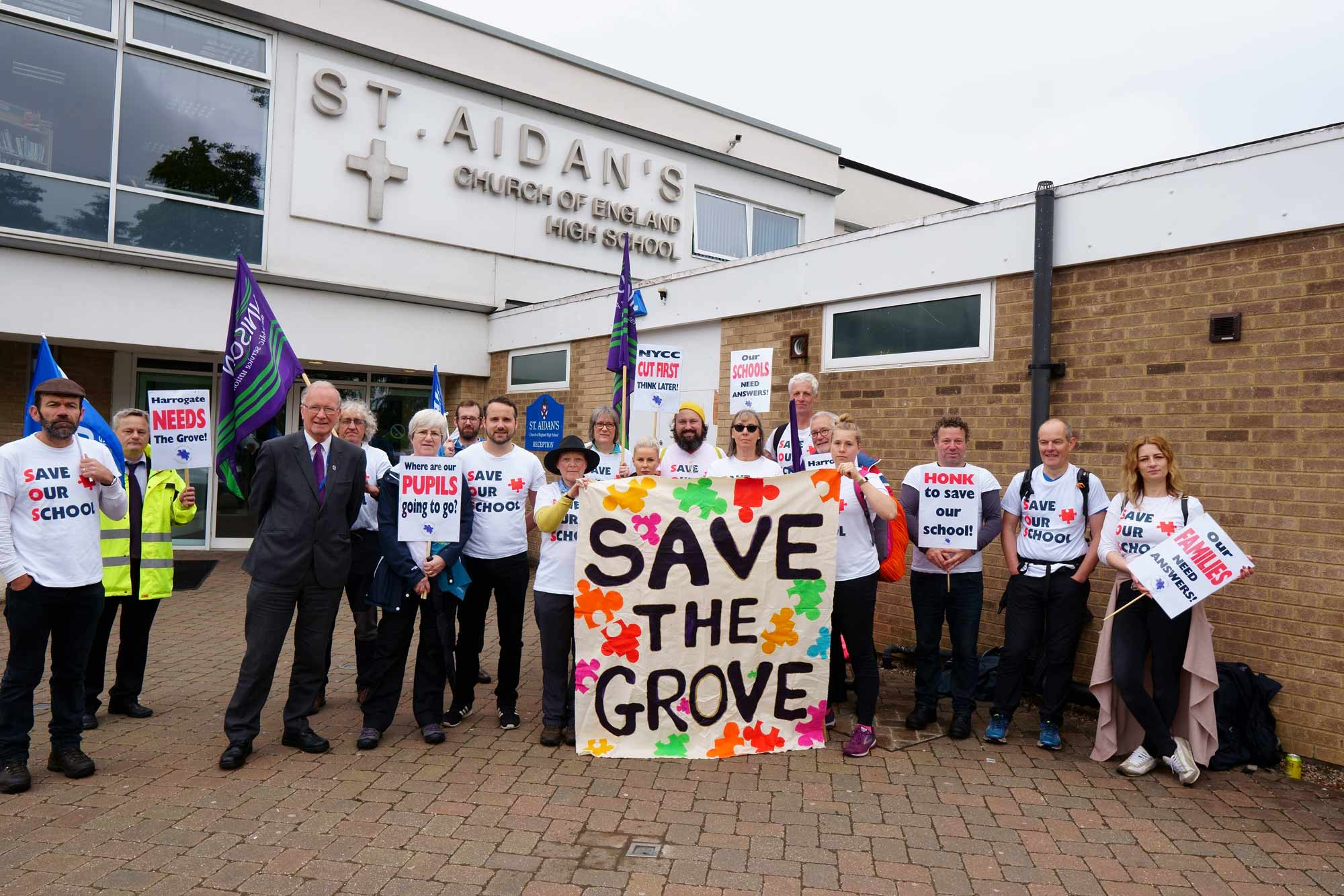 Save the Grove campaign at S Aidans Harrogate