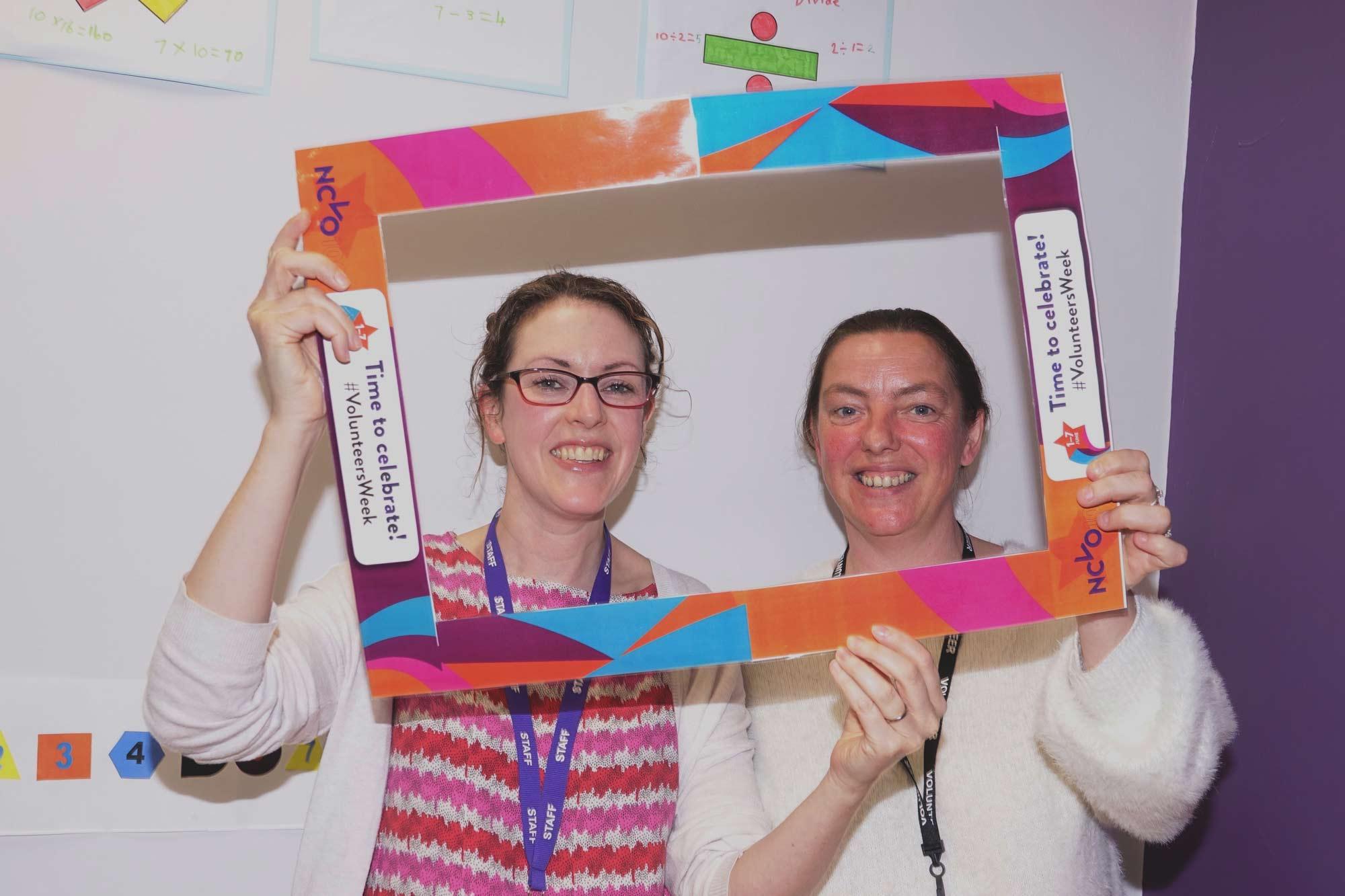 Emmi Wainwright, volunteer co-ordinator and Helen Cowie, a new volunteer