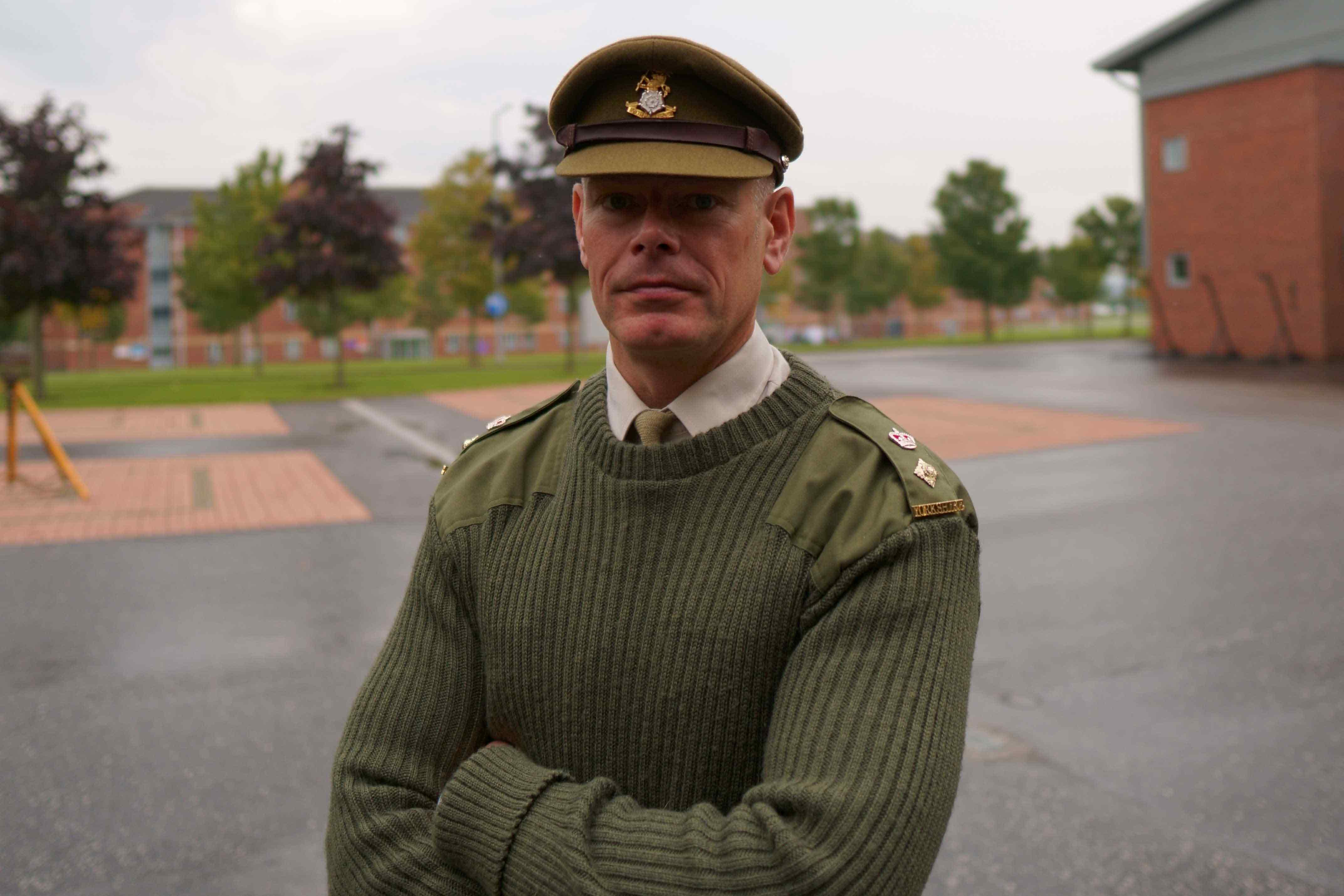 Col Rich Hall MBE, Commanding Officer of the Army Foundation College