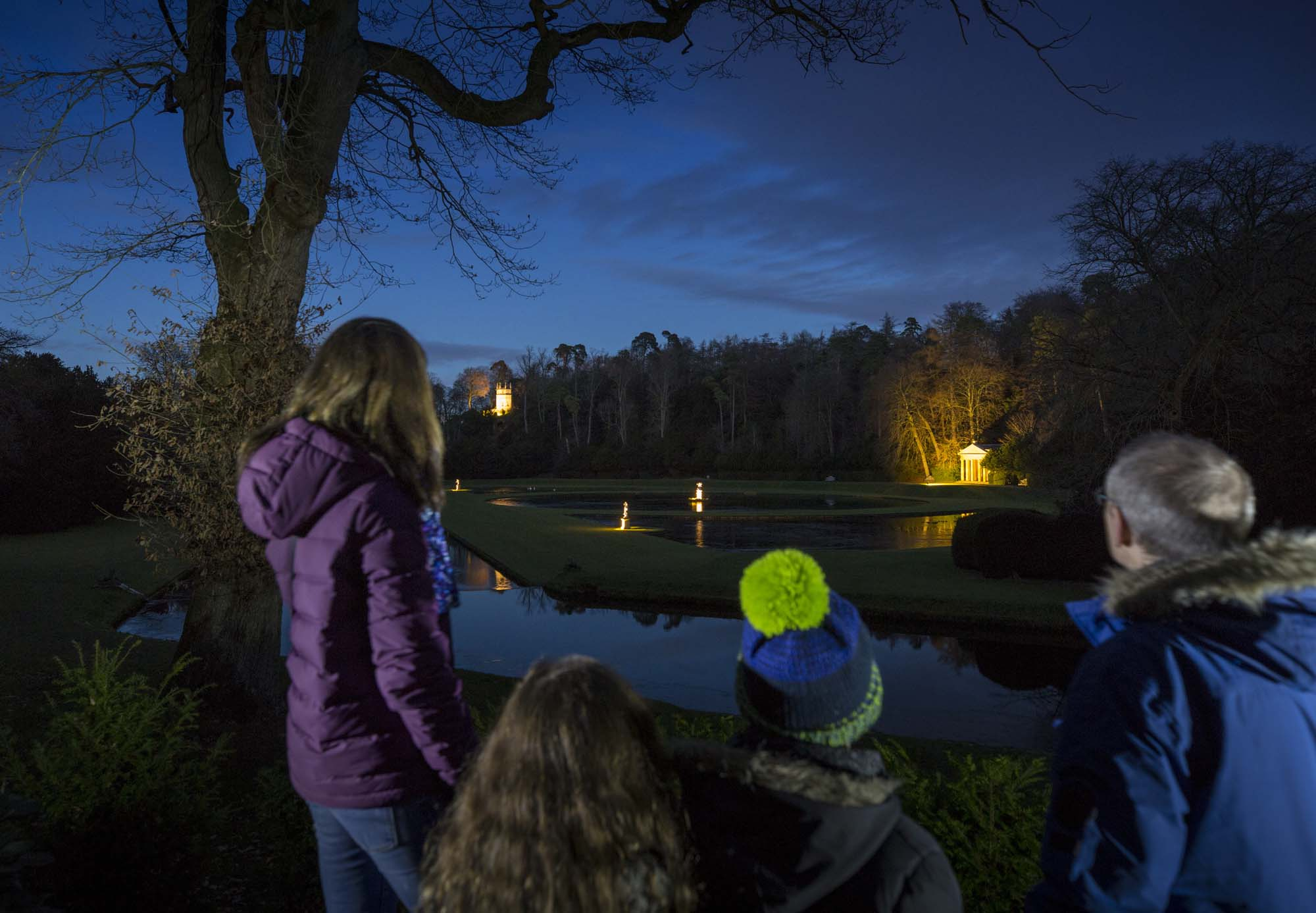 Fountains Abbey by floodlight