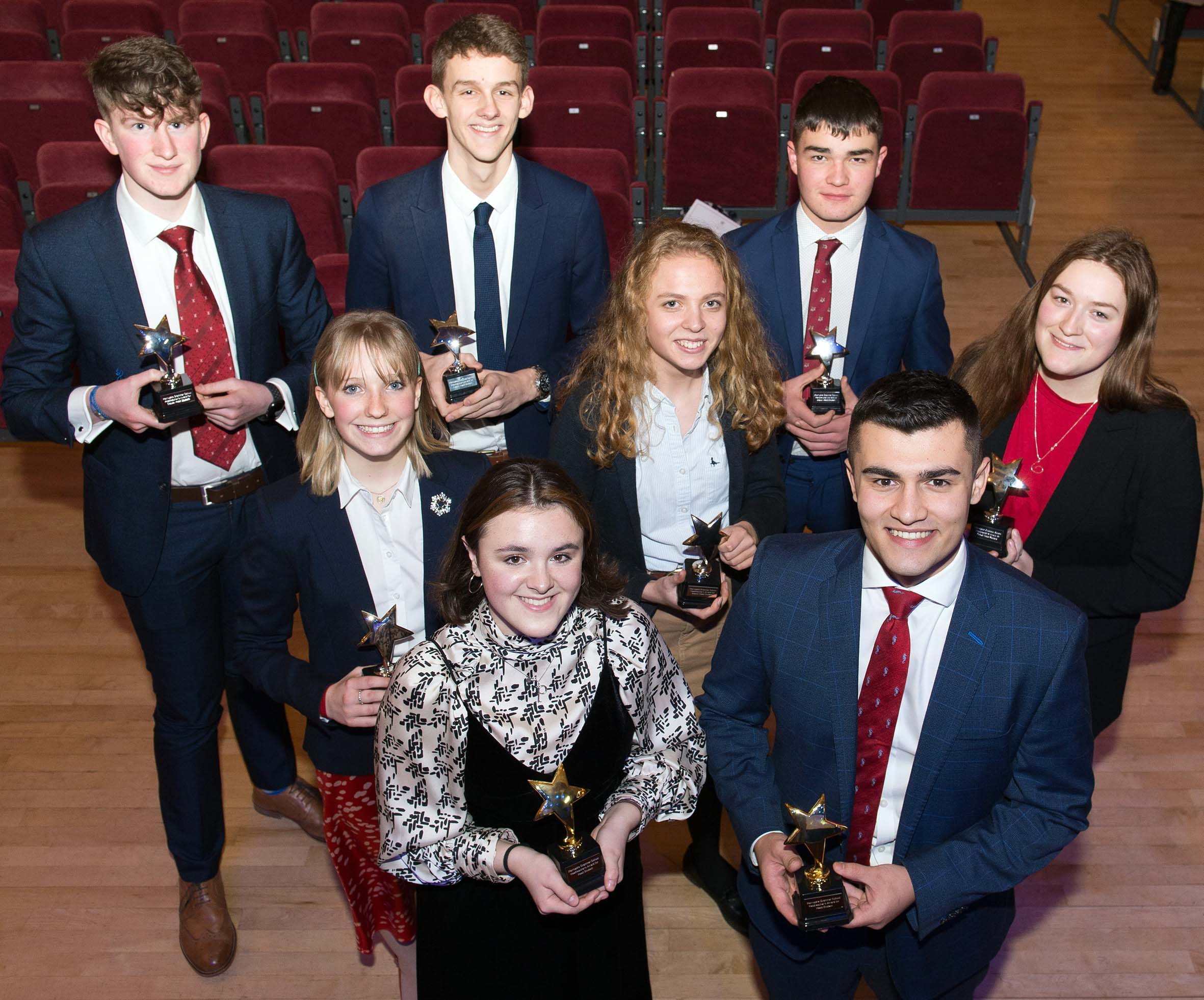5. Sixth Form Leadership Team with their awards Harrogate Grammar