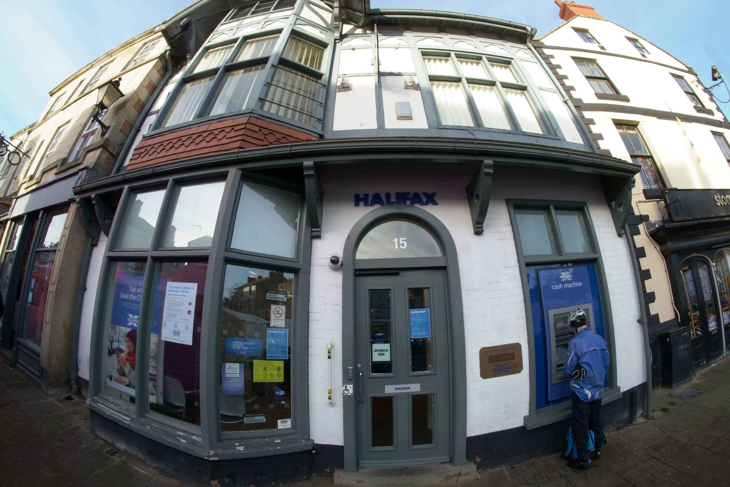 Closure of local bank branch: Halifax, Market Place in Knaresborough