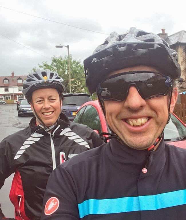 Claire and Stefan Macina, of Ilkley, completed a 25k tandem bike ride to raise money for Carers' Resource