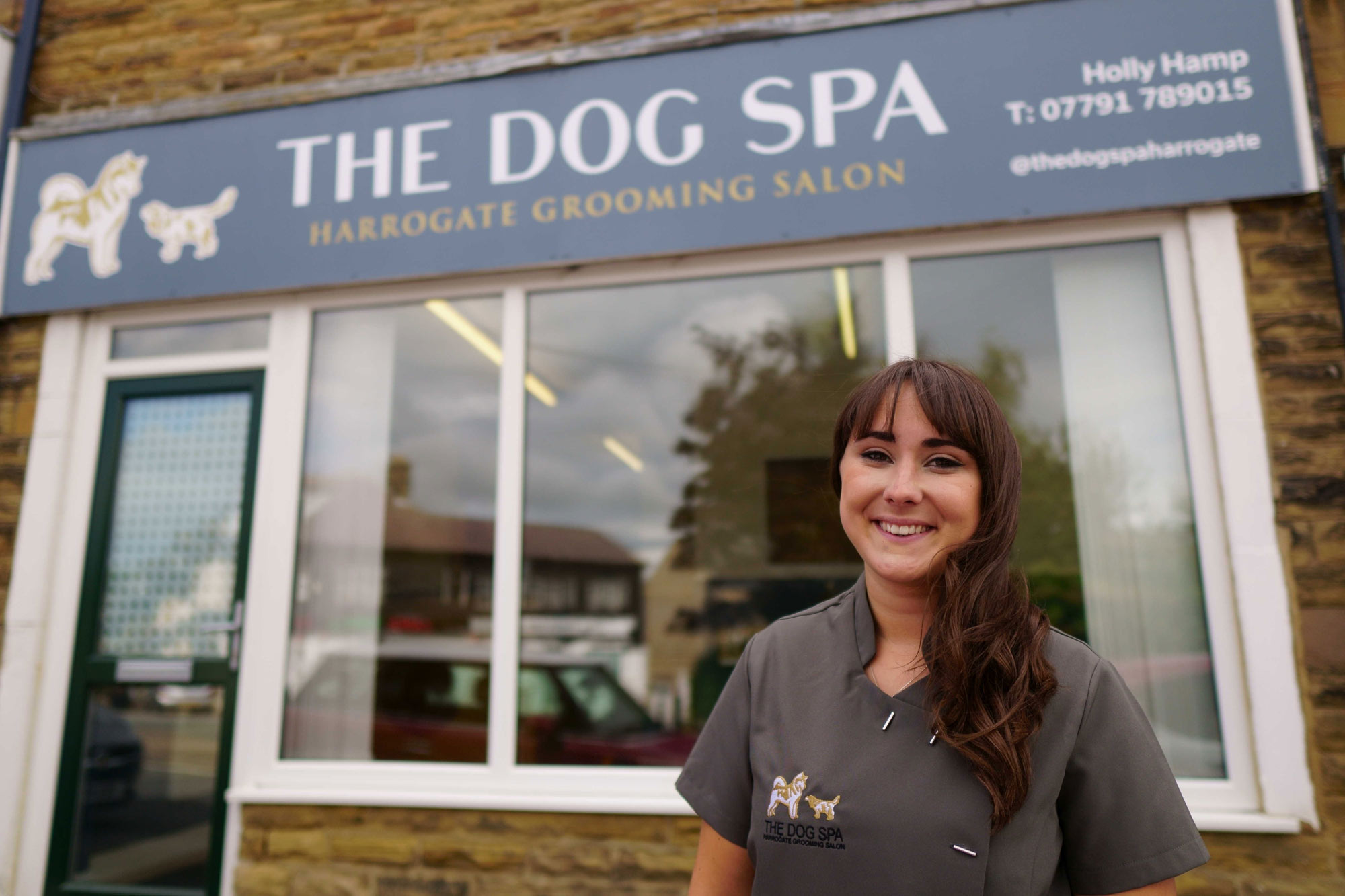 Holly Hamp has this week opened the Dog Spa in Harrogate