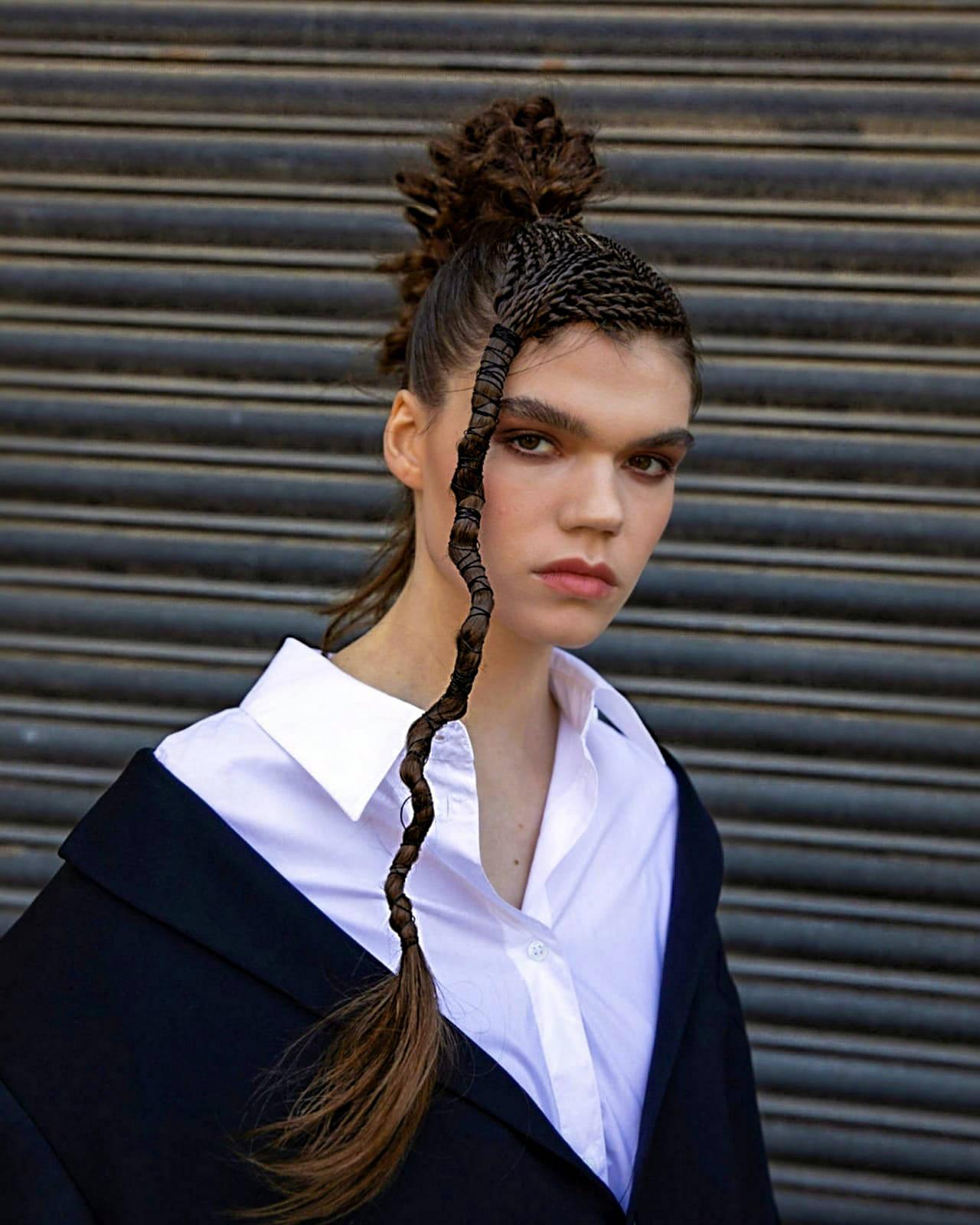 Rita Tuska at Joseph Ferraro Hair, Harrogate wins UK & Ireland Gold Editorial Look of the Year at the Wella Professionals TrendVision Award UK & Ireland Final 2020