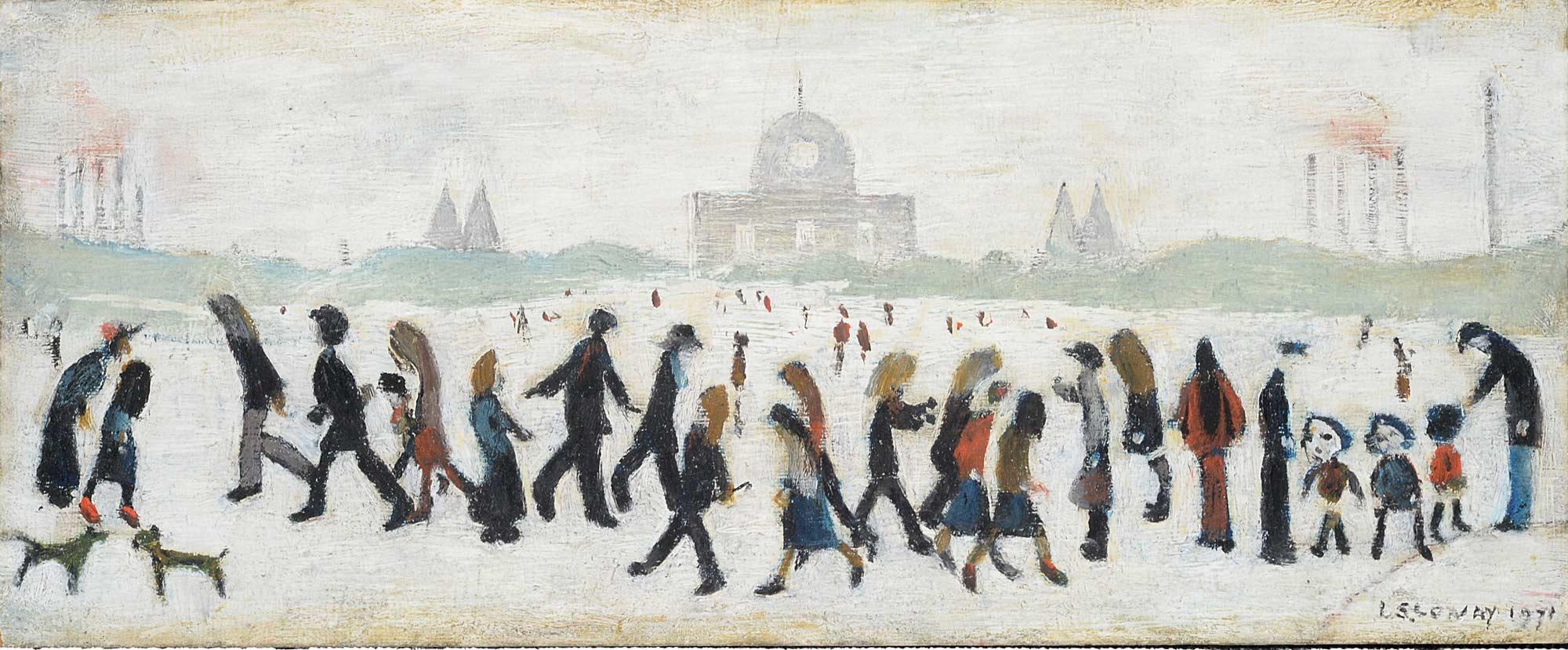 L.S. Lowry 'People in a Park' – Estimate: £60,000-90,000