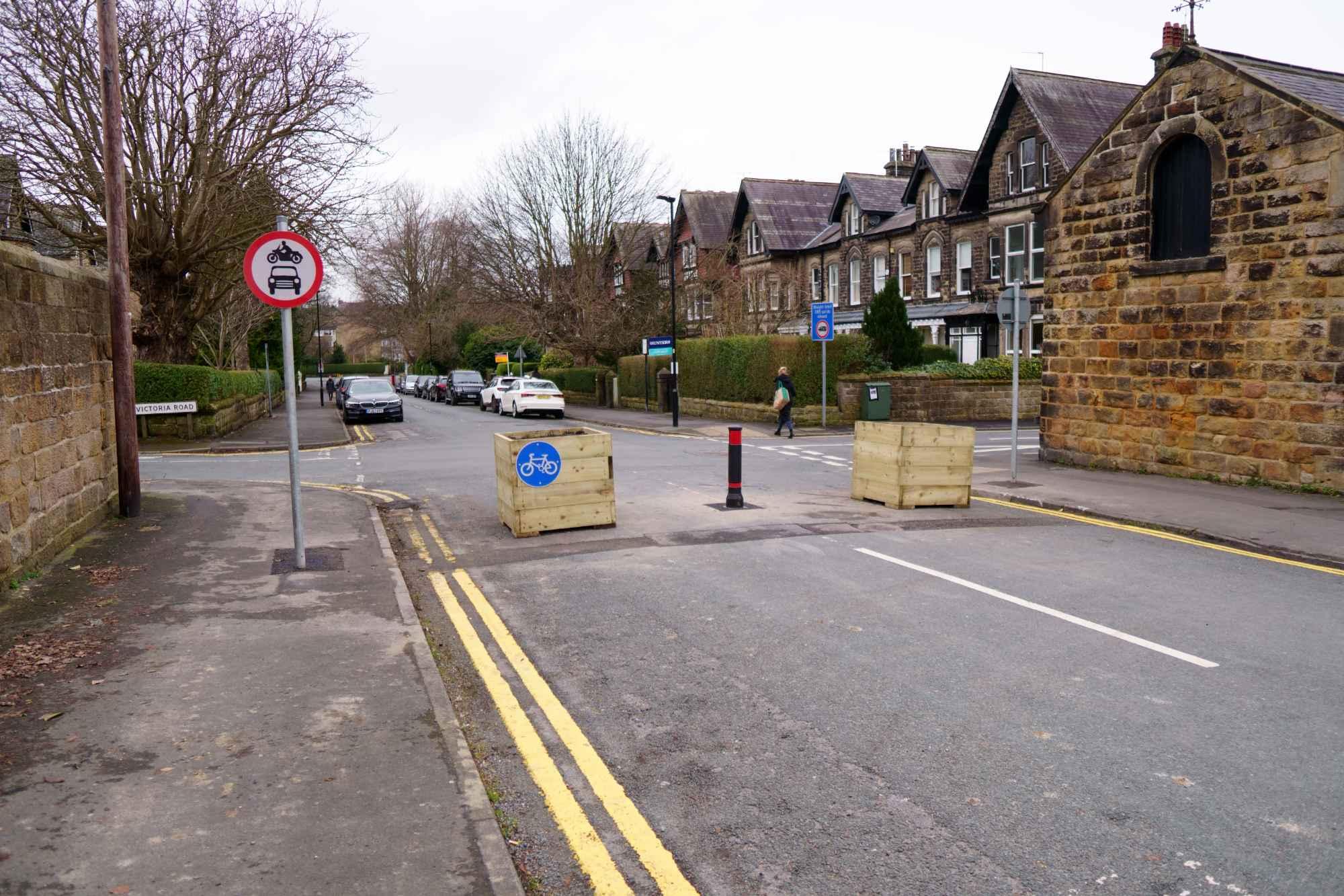 Barriers on Lancaster Road, Harrogate